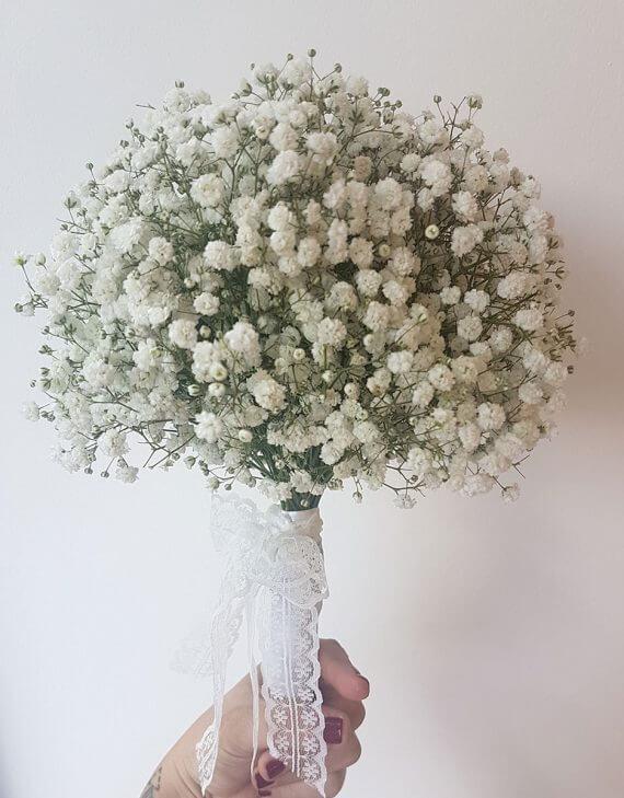 זר פרחים לבן לכלה