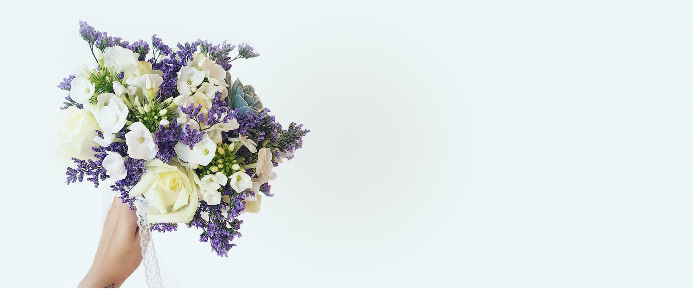 סליידר זר פרחים לכלה